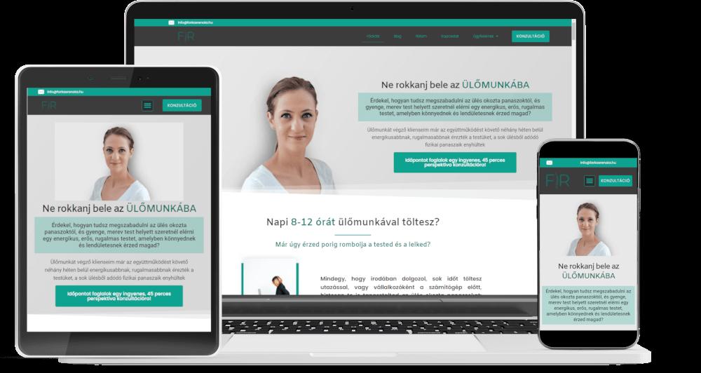 weboldalkészítés, ügyfélszerző rendszer készítés referencia farkasrenata.hu